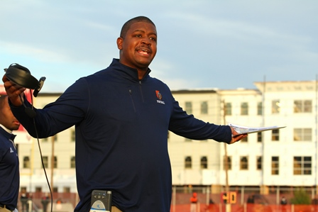 Virginia State head coach Latrell Scott calls to ...