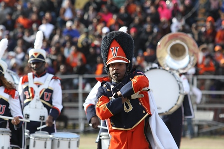 Virginia State Trojan Explosion performs at halft...