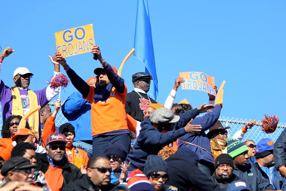 Virginia State fans come to their Trojans in CIAA...