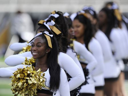 Alabama State Hornet cheerleaders are ready to ch...