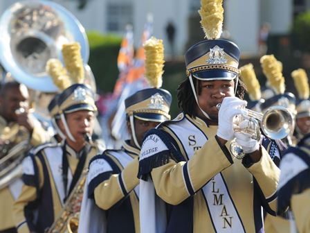 Stillman College marching band performs in at Tur...