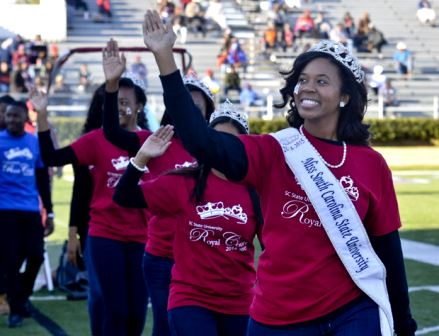 Miss South Carolina State University and court at...
