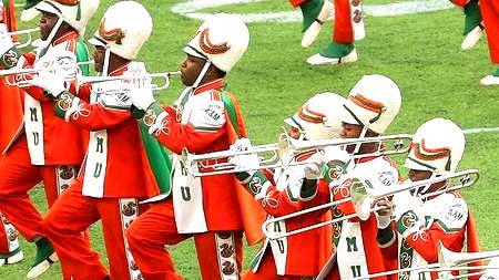 Florida A&M marching 100 performs in halftime in ...