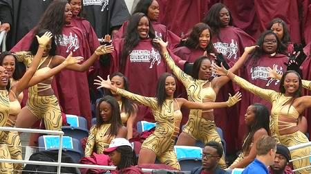 Bethune-Cookman 14kt Gold dancers perform in the ...