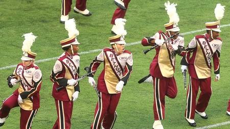Bethune-Cookman marching Wildcats perform at half...