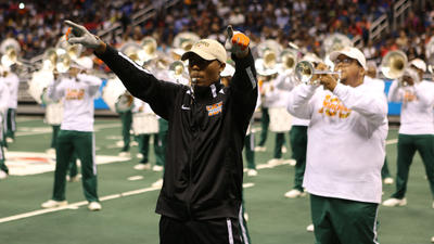 Florida A&M marching 100 at the Battle of the Ban...
