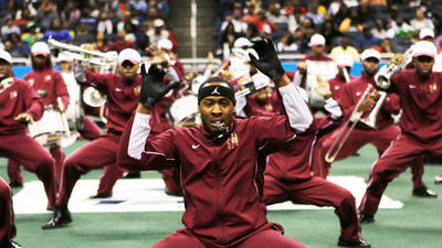 Bethune-Cookman marching band performs at the Bat...