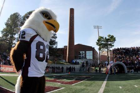 North Carolina Central Eagle mascot watches over ...