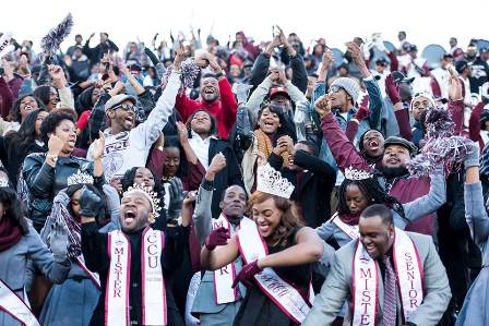 North Carolina Central Eagle fans at the game