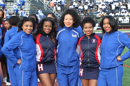Howard and Hampton senior cheerleaders cheer thei...