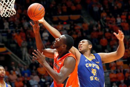 Coppin State Eagles get run over by Illinois