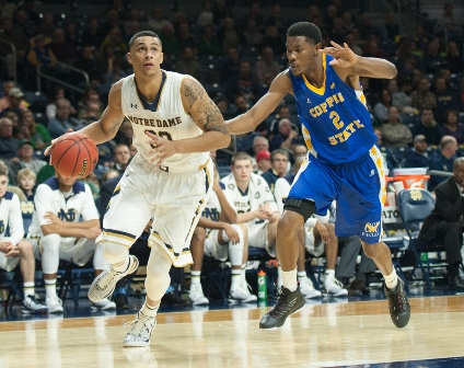 Coppin State Eagles can't keep up Notre Dame...
