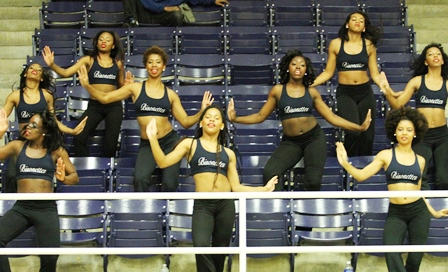 Howard University Bisonettes dancing in the stand...