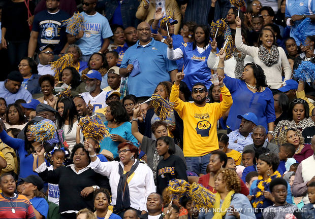 Southern fans celebrate during the 2014 Bayou Cla...