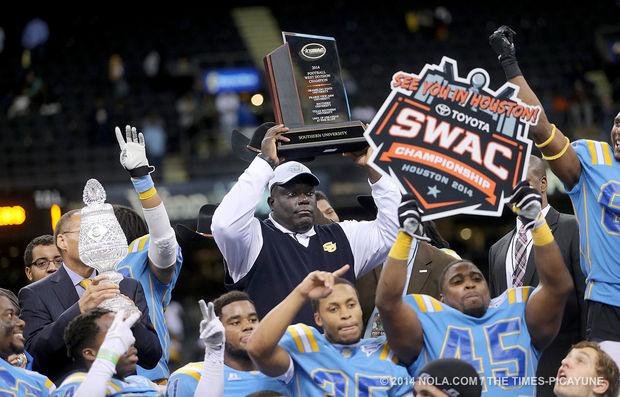 Southern University Jaguars head coach Dawson Odu...
