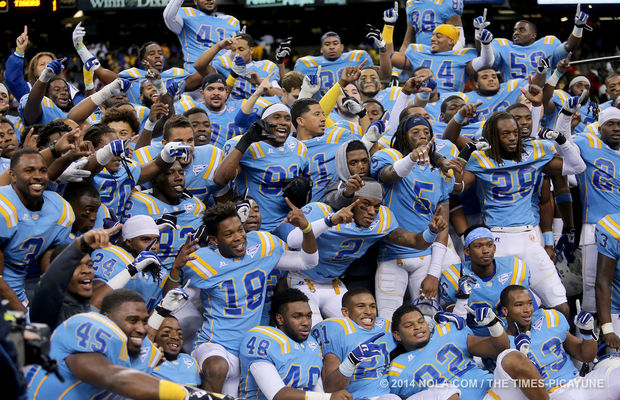 Southern Jaguars celebrate their narrow win durin...