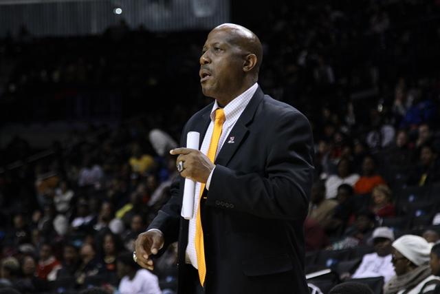 Virginia State head coach Lonnie Blow, Jr. looks ...