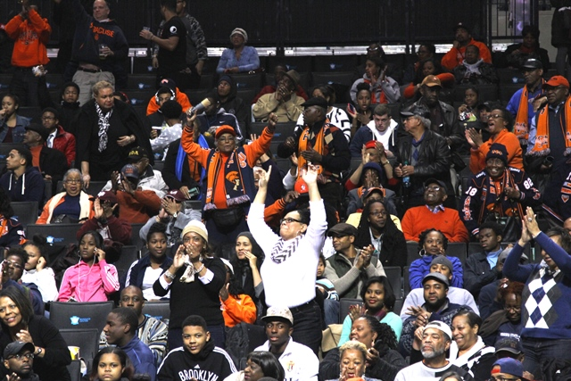 CIAA fans come to support the VSU Trojans and VUU...