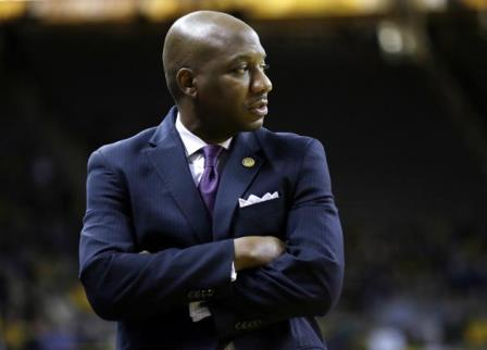 Alcorn State head coach Luther Riley looks on dur...