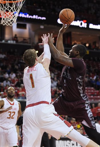 North Carolina Central goes up for a layup agains...
