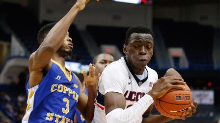 Coppin State gets blown out by Connecticut