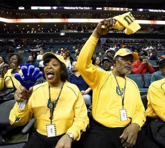 Johnson C. Smith Golden Bull fans enjoying the 20...