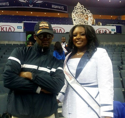 Miss Virginia State University at the 2015 CIAA T...
