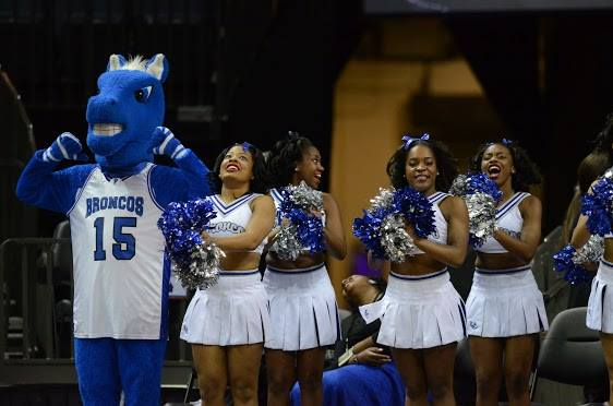 Fayetteville State University Bronco cheerleaders...