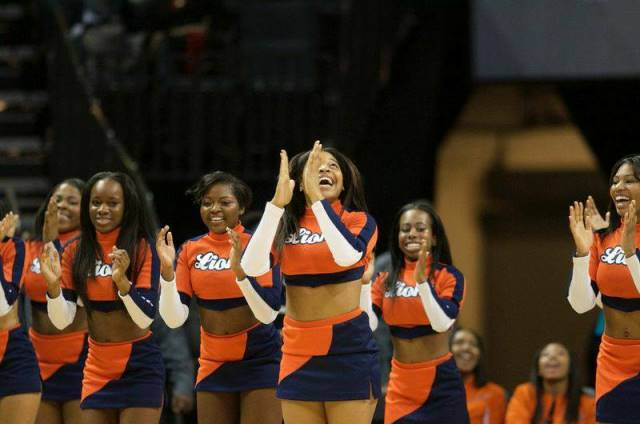Lincoln University cheerleaders at the CIAA Tourn...