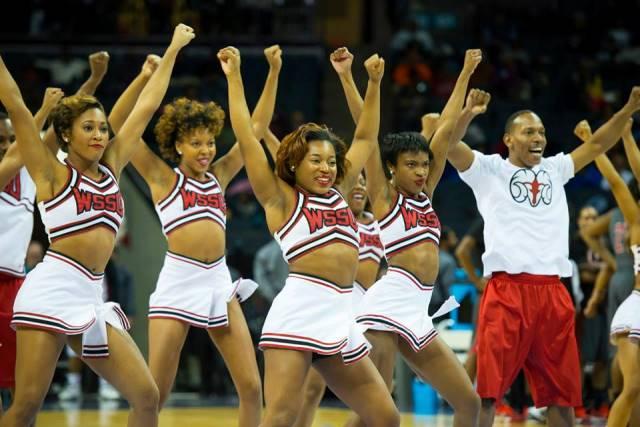 Winston-Salem State cheerleaders