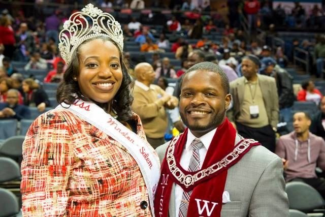 Miss and Mr Winston-Salem State University at the...
