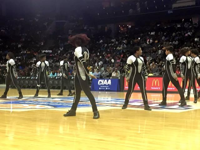 Johnson C. Smith University Luv-a-Bull cheerleade...