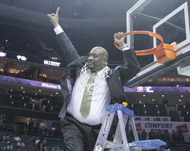 Virginia State head coach James Hill, Jr. cuts do...