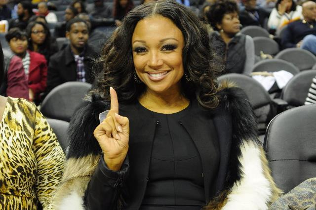 Chante Moore at the CIAA Basketball Tournament
