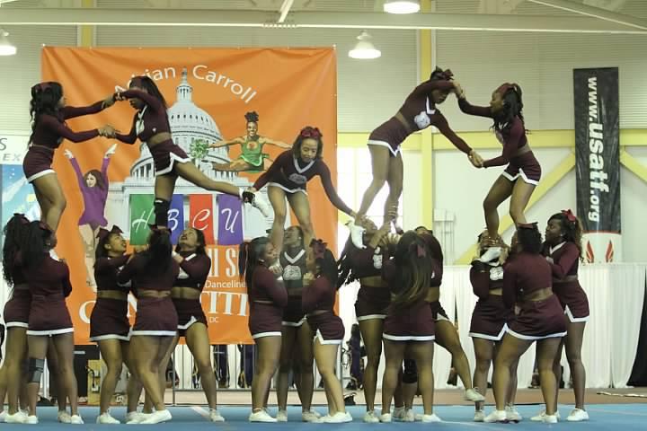 Alabama A&M University cheerleaders at 2015 Cheer...