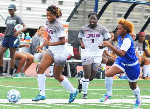 Howard Soccer wins big over Hampton, 17-0