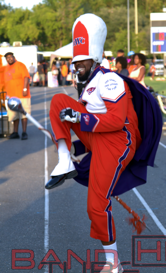 Edward Waters College drum major high stepping