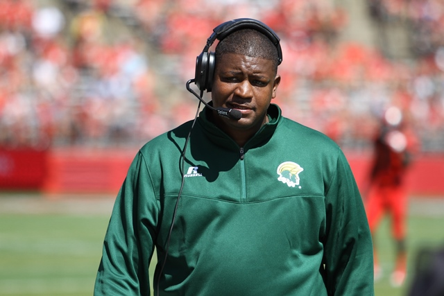 Norfolk State head coach Latrell Scott and his Sp...