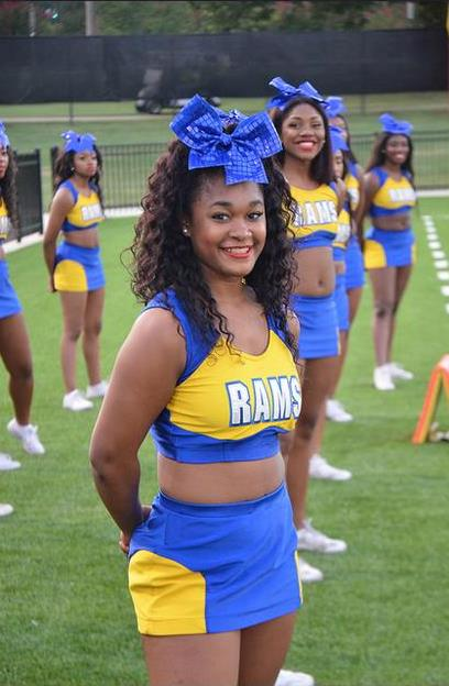 Albany State cheerleaders are ready to cheer at t...