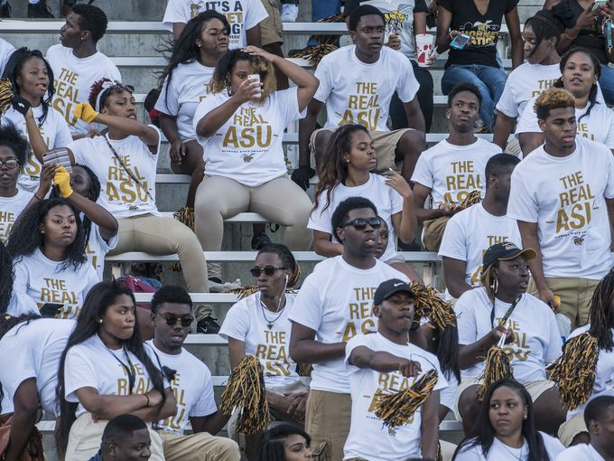 "Alabama State Hornet fans ""The Real ASU&quot..."
