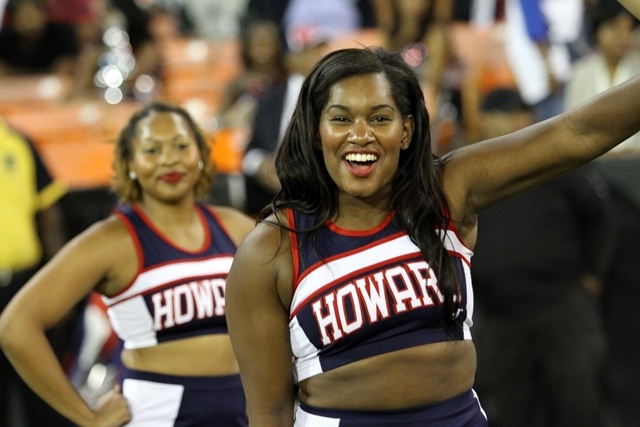 Howard Bison cheerleaders at the AT&T Nation&#039...