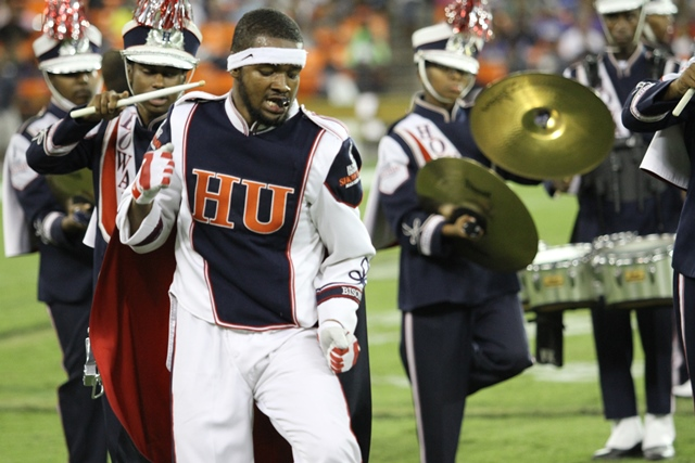 Howard Showtime marching band performs at the AT&...