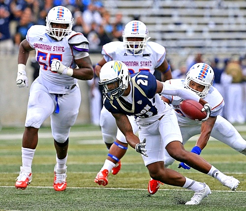 Savannah State Tigers get pounded on by Akron Zip...