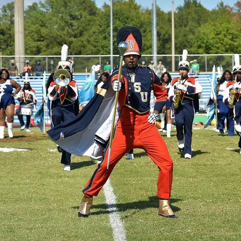 Virginia State marching Trojan Explosion performs...