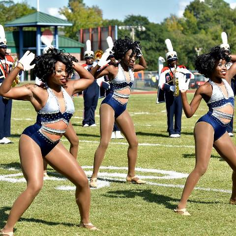 Virginia State Essence of Troy take the field