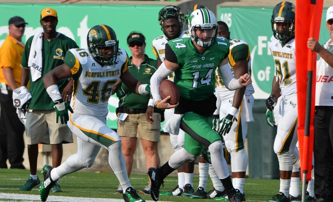 Norfolk State Spartans fall to Marshall Thunderin...