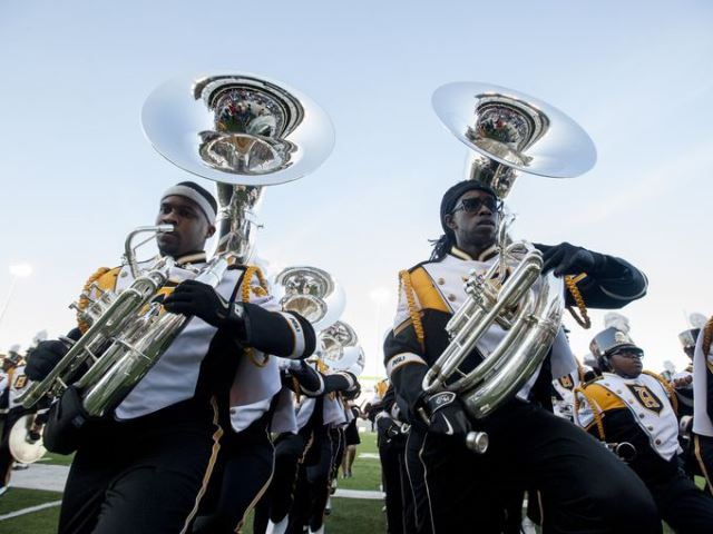 Alabama State marching Hornets take the field
