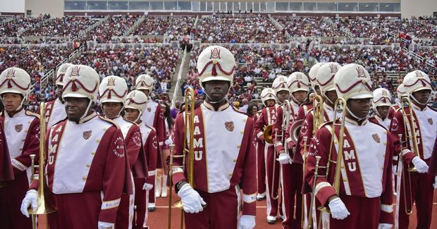 Alabama A&M marching band get ready to take the f...