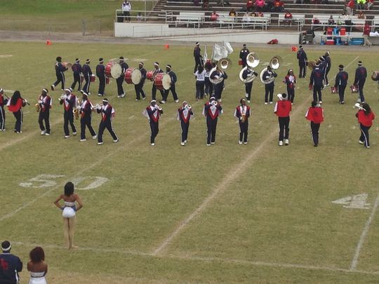 Lane College's band entertains fans during h...