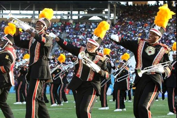 Grambling band perform to the delight of fans dur...
